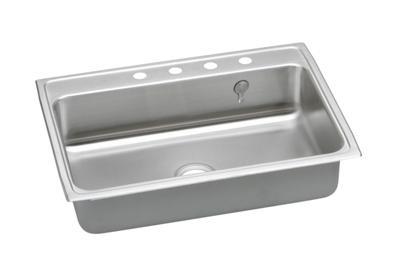 "Image for Elkay Gourmet Stainless Steel 31"" x 22"" x 7-5/8"", Single Bowl Top Mount Sink from ELKAY"