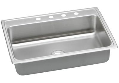 "Image for Elkay Lustertone Stainless Steel 31"" x 22"" x 7-5/8"", Single Bowl Top Mount Sink from ELKAY"