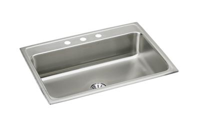 "Image for Elkay Lustertone Stainless Steel 31"" x 22"" x 7-5/8"", Single Bowl Top Mount Sink with Perfect Drain from ELKAY"