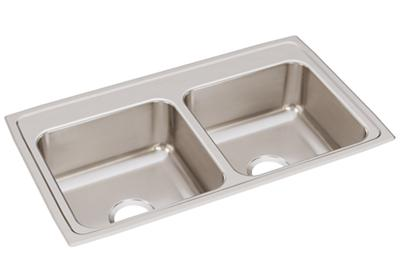 "Image for Elkay Lustertone Classic Stainless Steel 33"" x 19-1/2"" x 7-5/8"", Equal Double Bowl Drop-in Sink from ELKAY"