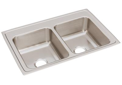 "Image for Elkay Lustertone Classic Stainless Steel 33"" x 22"" x 8-1/8"", Equal Double Bowl Drop-in Sink from ELKAY"