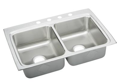 "Image for Elkay Gourmet Stainless Steel 33"" x 22"" x 8-1/8"", Equal Double Bowl Top Mount Sink from ELKAY"
