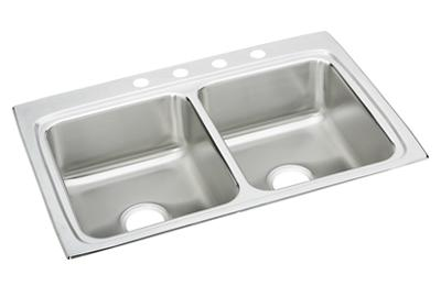 "Image for Elkay Lustertone Stainless Steel 33"" x 22"" x 8-1/8"", Equal Double Bowl Top Mount Sink from ELKAY"