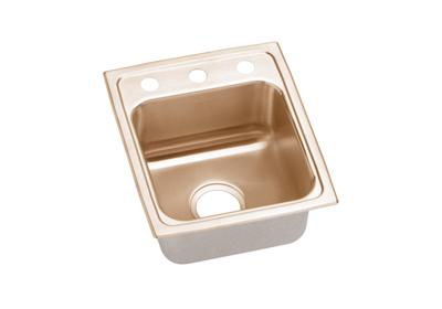 "Image for Elkay CuVerro Antimicrobial Copper 13"" x 16"" x 5"", Single Bowl Top Mount Sink from ELKAY"