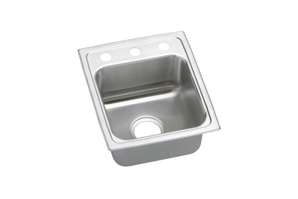"Elkay Lustertone Stainless Steel 13"" x 16"" x 5-1/2"", Single Bowl Top Mount ADA Sink"