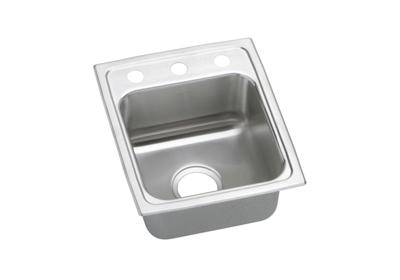 "Image for Elkay Lustertone Stainless Steel 13"" x 16"" x 5"", Single Bowl Top Mount Sink from ELKAY"