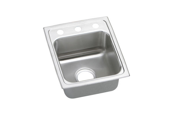 "Elkay Lustertone Stainless Steel 15"" x 17-1/2"" x 5-1/2"", Single Bowl Top Mount ADA Sink"