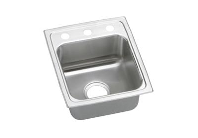 "Image for Elkay Lustertone Stainless Steel 15"" x 17-1/2"" x 5"", Single Bowl Top Mount Sink from ELKAY"