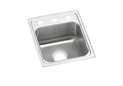 "Image for Elkay Lustertone Stainless Steel 15"" x 17-1/2"" x 6-1/2"", Single Bowl Top Mount ADA Sink from ELKAY"