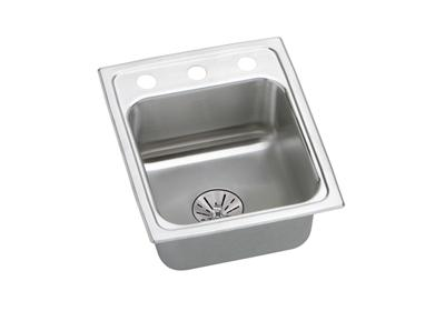 "Image for Elkay Lustertone Classic Stainless Steel 15"" x 17-1/2"" x 6-1/2"", Single Bowl Top Mount ADA Sink with Perfect Drain from ELKAY"