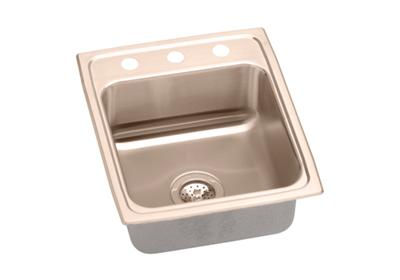 "Image for Elkay CuVerro Antimicrobial Copper 15"" x 22"" x 5"", Single Bowl Top Mount ADA Sink from ELKAY"