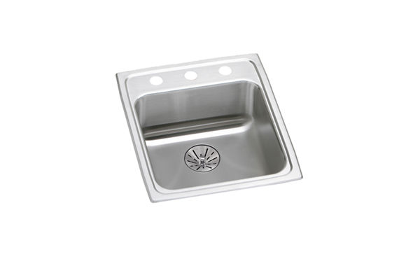 "Elkay Lustertone Classic Stainless Steel 15"" x 22"" x 6-1/2"", Single Bowl Drop-in ADA Sink with Perfect Drain"