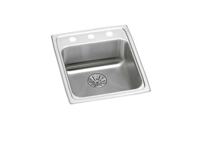 "Image for Elkay Lustertone Stainless Steel 15"" x 22"" x 6-1/2"", Single Bowl Top Mount ADA Sink with Perfect Drain from ELKAY"