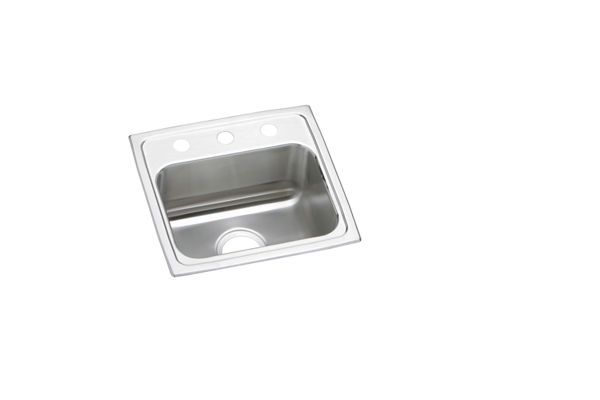 "Elkay Lustertone Classic Stainless Steel 17"" x 16"" x 5-1/2"", Single Bowl Top Mount ADA Sink"