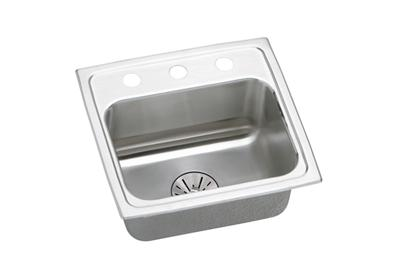 "Image for Elkay Lustertone Classic Stainless Steel 17"" x 16"" x 6-1/2"", Single Bowl Top Mount ADA Sink with Perfect Drain from ELKAY"