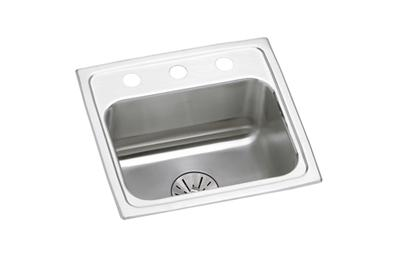 "Image for Elkay Lustertone Stainless Steel 17"" x 16"" x 6-1/2"", Single Bowl Top Mount ADA Sink with Perfect Drain from ELKAY"