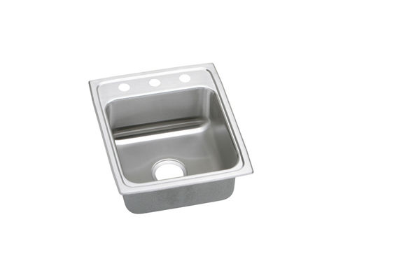 "Elkay Lustertone Classic Stainless Steel 17"" x 20"" x 5-1/2"", Single Bowl Top Mount ADA Sink"