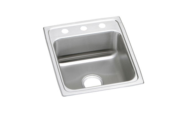 "Elkay Lustertone Stainless Steel 17"" x 20"" x 4"", Single Bowl Top Mount ADA Sink"