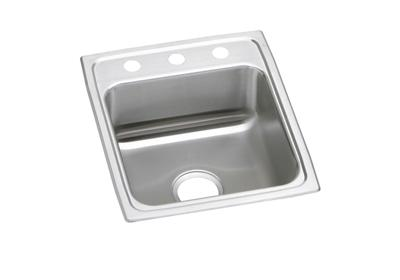 "Image for Elkay Lustertone Stainless Steel 17"" x 20"" x 5"", Single Bowl Top Mount ADA Sink from ELKAY"