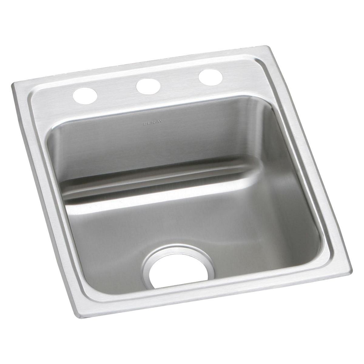 """Elkay Lustertone Classic Stainless Steel 17"""" X 20"""" X 5-1/2"""", Single Bowl Drop-in ADA Sink"""