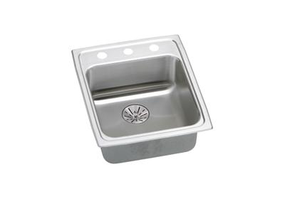 "Image for Elkay Lustertone Classic Stainless Steel 17"" x 20"" x 6-1/2"", Single Bowl Top Mount ADA Sink with Perfect Drain from ELKAY"