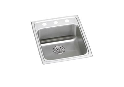 "Image for Elkay Lustertone Stainless Steel 17"" x 20"" x 6-1/2"", Single Bowl Top Mount ADA Sink with Perfect Drain from ELKAY"