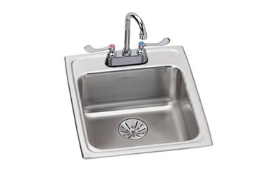 "Image for Elkay Lustertone Stainless Steel 17"" x 20"" x 6-1/2"", Single Bowl Top Mount ADA Sink + Faucet Kit with Perfect Drain from ELKAY"