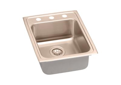 "Image for Elkay CuVerro Antimicrobial Copper 17"" x 22"" x 6-1/2"", Single Bowl Top Mount Sink from ELKAY"