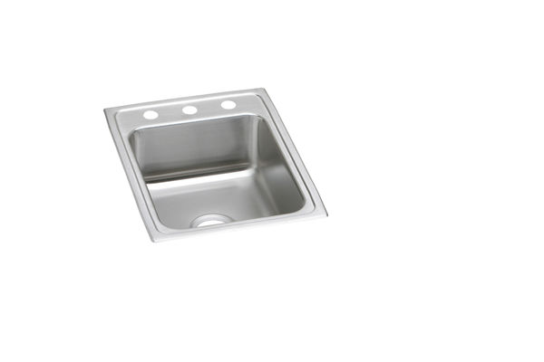"Elkay Lustertone Classic Stainless Steel 17"" x 22"" x 5-1/2"", Single Bowl Top Mount ADA Sink"