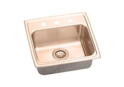"Image for Elkay CuVerro Antimicrobial Copper 19"" x 18"" x 4"", Single Bowl Top Mount ADA Sink from ELKAY"