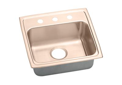 "Image for Elkay CuVerro Antimicrobial Copper 19"" x 18"" x 5"", Single Bowl Top Mount Sink from ELKAY"