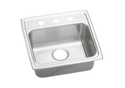 "Image for Elkay Lustertone Stainless Steel 19"" x 18"" x 5"", Single Bowl Top Mount Sink from ELKAY"