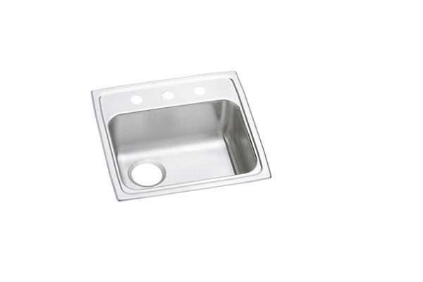"Elkay Lustertone Stainless Steel 19"" x 18"" x 5-1/2"", Single Bowl Top Mount ADA Sink"