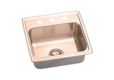 "Image for Elkay CuVerro Antimicrobial Copper 19-1/2"" x 19"" x 6-1/2"", Single Bowl Top Mount ADA Sink from ELKAY"