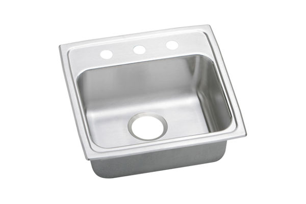 "Elkay Lustertone Stainless Steel 19-1/2"" x 19"" x 5-1/2"", Single Bowl Top Mount ADA Sink"