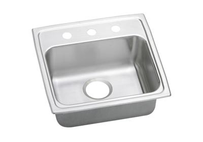 "Image for Elkay Lustertone Stainless Steel 19-1/2"" x 19"" x 6"", Single Bowl Top Mount Sink from ELKAY"