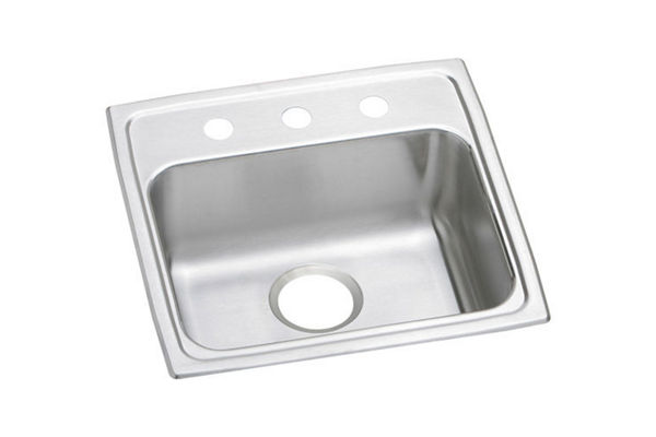 "Elkay Lustertone Stainless Steel 19"" x 18"" x 4-1/2"", Single Bowl Top Mount ADA Sink"