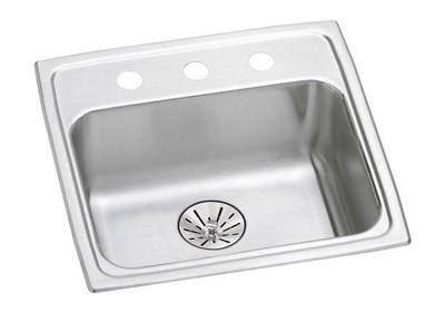 "Image for Elkay Lustertone Classic Stainless Steel 19-1/2"" x 19"" x 6-1/2"", Single Bowl Drop-in ADA Sink with Perfect Drain from ELKAY"