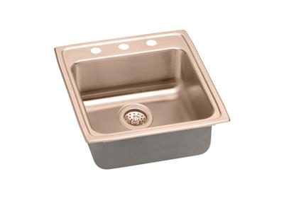"Image for Elkay CuVerro Antimicrobial Copper 19-1/2"" x 22"" x 6"", Single Bowl Top Mount ADA Sink from ELKAY"