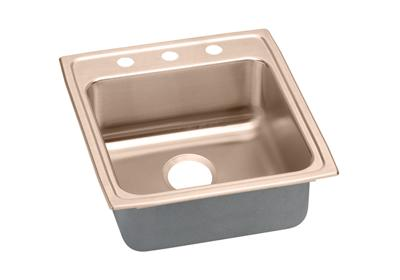 "Image for Elkay CuVerro Antimicrobial Copper 19-1/2"" x 22"" x 4"", Single Bowl Top Mount ADA Sink from ELKAY"