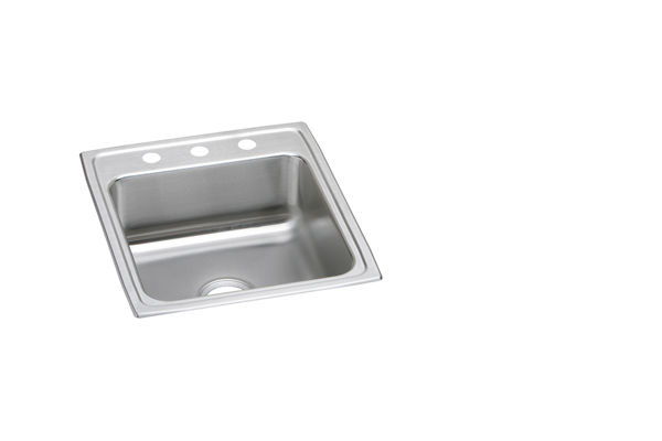 "Elkay Lustertone Classic Stainless Steel 19-1/2"" x 22"" x 4"", Single Bowl Top Mount ADA Sink"