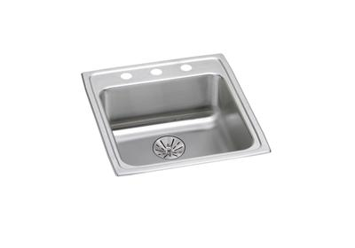"Image for Elkay Lustertone Classic Stainless Steel 19-1/2"" x 22"" x 6-1/2"", Single Bowl Drop-in ADA Sink with Perfect Drain from ELKAY"