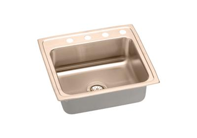 "Image for Elkay CuVerro Antimicrobial Copper 22"" x 19-1/2"" x 4-1/2"", Single Bowl Top Mount ADA Sink from ELKAY"