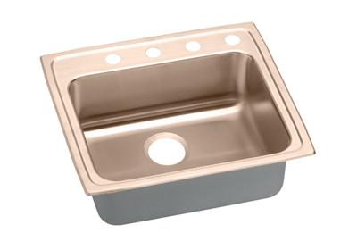 "Image for Elkay CuVerro Antimicrobial Copper 22"" x 19-1/2"" x 4-1/2"", Single Bowl Top Mount Sink from ELKAY"
