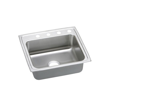 "Elkay Lustertone Stainless Steel 22"" x 19-1/2"" x 5-1/2"", Single Bowl Top Mount ADA Sink"
