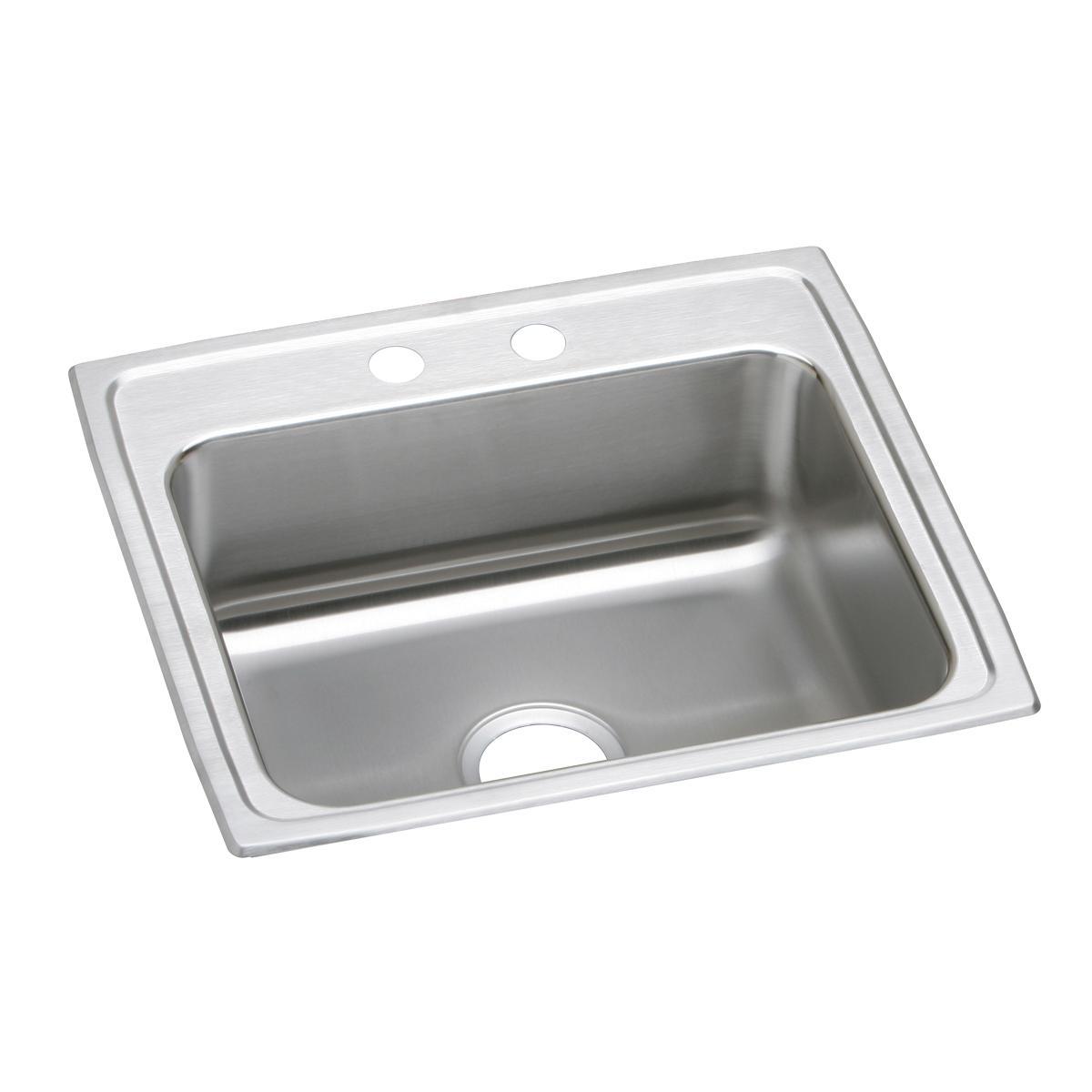 """Elkay Lustertone Classic Stainless Steel 22"""" X 19-1/2"""" X 5-1/2"""", Single Bowl Drop-in ADA Sink"""