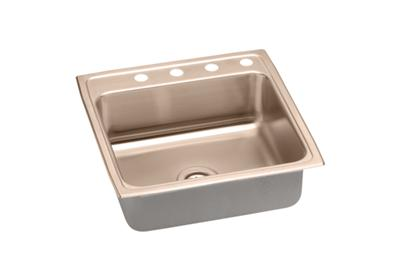 "Image for Elkay CuVerro Antimicrobial Copper 22"" x 22"" x 5"", Single Bowl Top Mount ADA Sink from ELKAY"