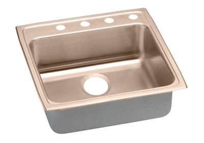 "Image for Elkay CuVerro Antimicrobial Copper 22"" x 22"" x 6-1/2"", Single Bowl Top Mount Sink from ELKAY"