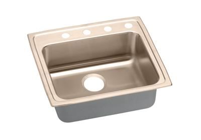 "Image for Elkay CuVerro Antimicrobial Copper 25"" x 21-1/4"" x 4-1/2"", Single Bowl Top Mount Sink from ELKAY"