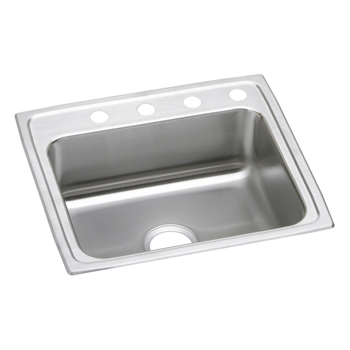 """Elkay Lustertone Classic Stainless Steel 25"""" X 21-1/4"""" X 5-1/2"""", Single Bowl Drop-in ADA Sink"""